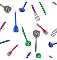 pattern of kitchen tools set vector image vector image