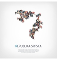 people map country Republika Srpska vector image