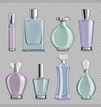 perfume glass bottles set vector image