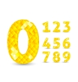 Realistic with diamond numbers vector image