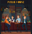 restaurant pub visitors composition vector image