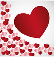 saint valentines day design vector image vector image