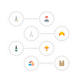 set of europe icons flat style symbols with wine vector image