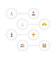 set of europe icons flat style symbols with wine vector image