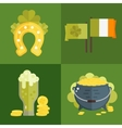 Set of flat icons for StPatricks day vector image vector image