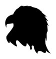 silhouette american eagle icon happy 4 th july vector image vector image