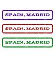 spain madrid watermark stamp vector image