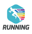 sport running human run white background im vector image