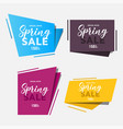 spring sale paper cut for your design vector image vector image