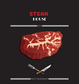 steak and grill house template menu poster vector image vector image