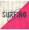 surf typography in grunge design with vector image vector image