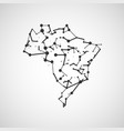 technology image of brazil vector image