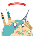 Travel to World Trip to World Road trip Tourism vector image vector image