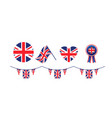 united kingdom symbols set flags vector image