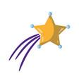 nice shiny shooting star design vector image