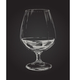 Glass of Brandy Drawing vector image