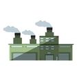 building industry factory chimney shadow vector image