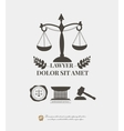 Law firm logos lawyer weight and gavel attorney vector image