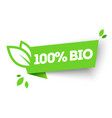 100 organic bio product label vector image
