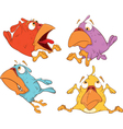 a set of birdies cartoon vector image vector image