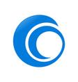 abstract circular spiral swoosh symbol logo design vector image