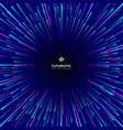 abstract futuristic technology geometric circular vector image vector image