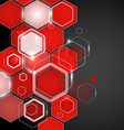 abstract red background hexagon