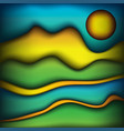 abstract waves of color scenic landscape vector image