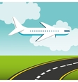 airplane flying transport icon vector image vector image