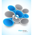 Background with 3d ellipse vector image vector image