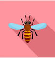bee queen of insect icon flat style vector image vector image