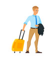 businessman having a business trip vector image vector image