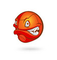cartoon basketball ball on vector image vector image
