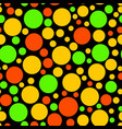 chaotic circle seamless pattern vector image vector image