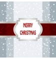 Christmas Background With Frame vector image vector image