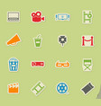 cinema simply icons vector image vector image