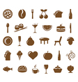 Collection Restaurant Icons vector image vector image