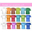 colored and white shirts vector image vector image