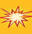 comic flash in the form of multipath stars vector image vector image