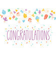congratulations card vector image