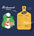 creative menu design vector image