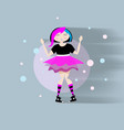 cute emo girl in fashion vector image