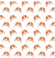 cute rabbit heads decoration pattern vector image