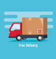 delivery truck service icon vector image vector image