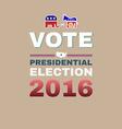 Elephant versus Donkey Vote 2016 vector image vector image