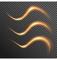 fire sparkle spiral wave line with flying vector image vector image