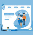 flat people talking typing at smartphone vector image vector image