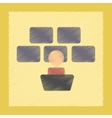 flat shading style icon screen guard vector image vector image