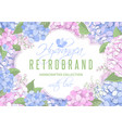 floral frame with hydrangea flowers vector image vector image