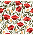folk flowers seamless pattern vector image